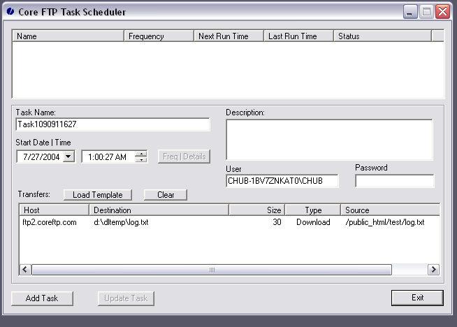 Schedule File Transfers